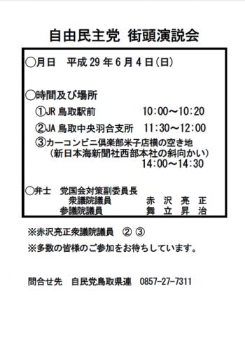 H29.6.4 街頭演説会チラシ